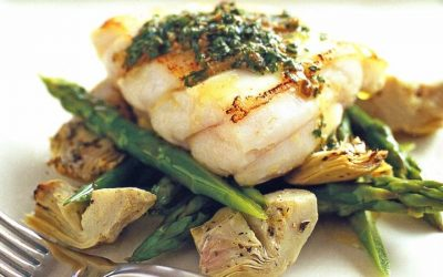 Healthy Bites Recipe: Fish with Asparagus and Herb Vinaigrette