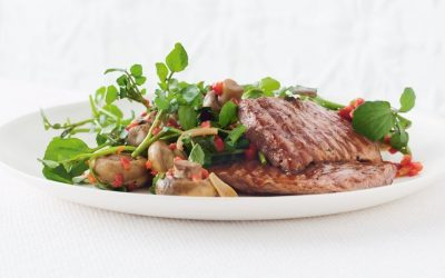 Healthy Bites Recipe: Lamb Minute Steaks With Marinated Mushrooms