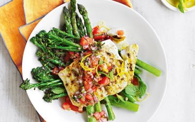 Healthy Bites Recipe: Lemon-Pepper Bbq Fish With Greens & Salsa