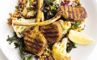 Healthy Bites Recipe: Indian Lamb Cutlets With Lentil, Kale and Cauliflower Salad