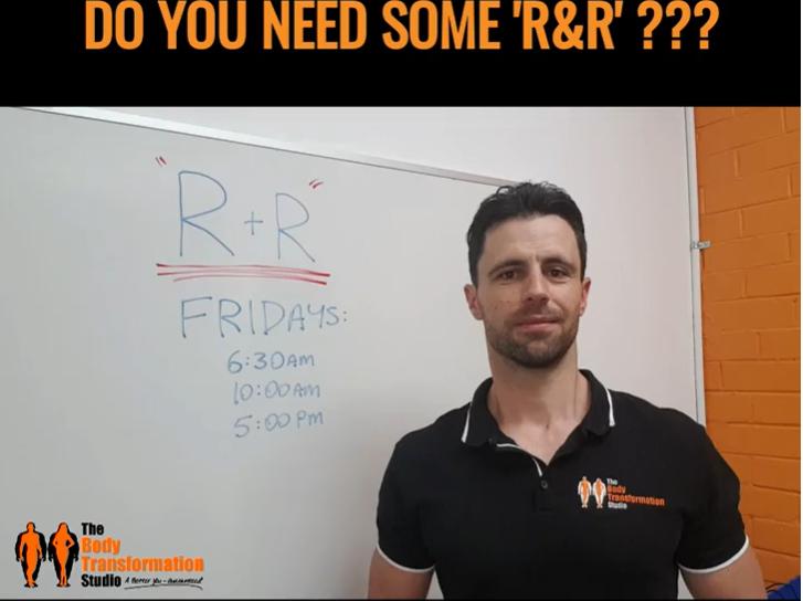 """New Class Alert: """"R & R"""""""
