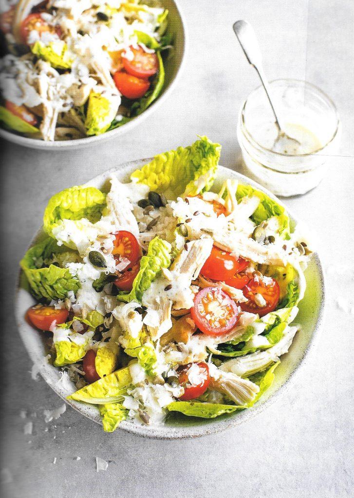 Chicken caesar-ish salad
