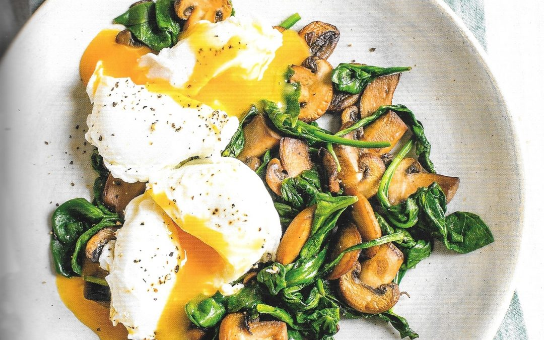 Healthy Bites Recipe: Poached Eggs With Mushroom & Spinach