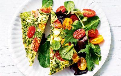 Healthy Bites Recipe: Summer Greens, Tomato & Basil Frittata