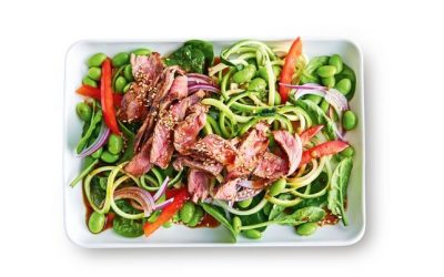 Healthy Bites Recipe: Warm Wasabi Beef & Zoodle Salad